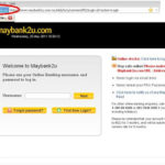 Website Maybank2u & CIMB Click Palsu
