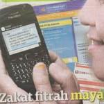 Bayar Zakat Fitrah Guna SMS